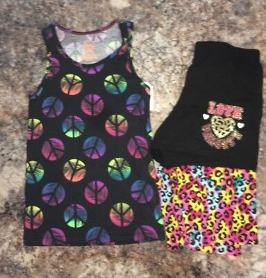 59a058cc5a5 Faded Glory Girls Size 10 12 Summer Clothes Lot Of 3 Tank Top And Shorts