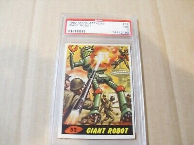 "Mars Attacks ""giant Robot"" Card # 52 Graded By Psa Nm 7"