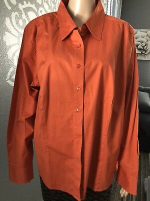 2a048777f69 NWT WESTBOUND WOMAN Women s CLASSIC SHIRT Stretch Button Down Shirt TOP sz  2X
