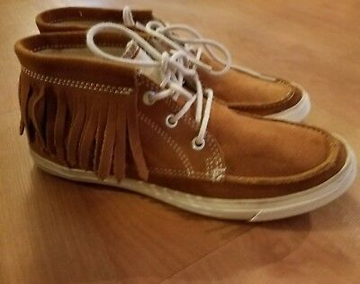 e3f7931d461c Converse All Star Chuck Taylors Fringe Suede Sneakers Womens 7 Glazed Ginger