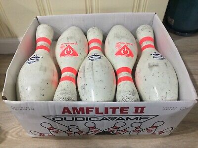 FROLING Case Of 10 Used Bowling Pins By Qubica AMF-TARGET PRACTICE Crafts