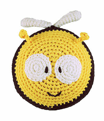 Baby Organic Eco Soft Toy Bee Roly Poly Rattle