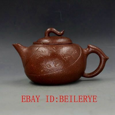 Antique Vintage Yixing Zisha Hand-carved Teapot Handmade From Republic of China