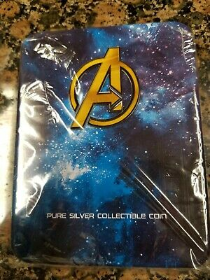 THANOS - MARVEL - AVENGERS INFINITY WAR - 2018 2 Pure Silver Antiqued Coin FIJI