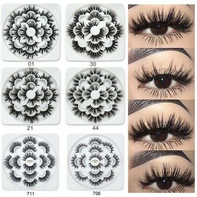 7 Pairs 3D Mink Soft Long Natural Thick Makeup Eye Lashes False Eyelashes MY