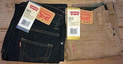 2 NEW PAIR Levi's Boy's Jeans Size 25-25 FREE SHIPPING