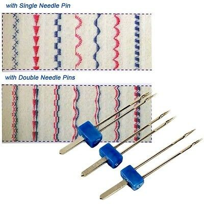 3Pcs Double Twin Stainless Steel Needles Pins Kit Sewing Craft Accessories