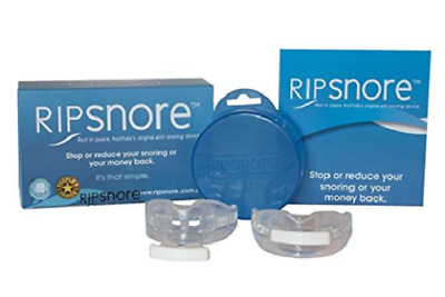 Ripsnore Anti Snoring Device - Mouth Guard Twin Pack - Snoring Relief