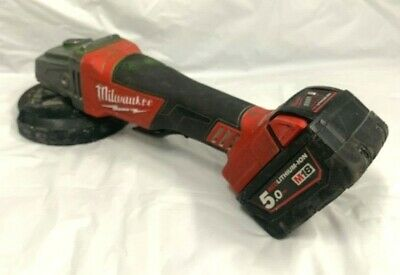 """Milwaukee 18V Cordless Fuel 125mm 5"""" Angle Grinder Brushless M18CAG125XPD"""