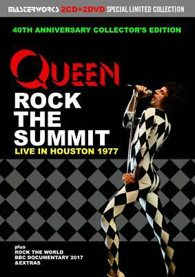 QUEEN / ROCK THE SUMMIT : LIVE IN HOUSTON 1977 Press 2CD+2DVD ■ F/S