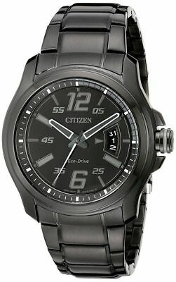 Citizen Eco-Drive HTM Black Dial Stainless Steel Men's Watch AW1354-82E
