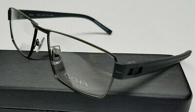 Authentic MOREL OGA FRANCE Mens Optical Eyeglasses Frames 7921O Black NEW w/Case