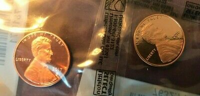 2016 & 2017 S Lincoln Proof Cent Penny As Shown - Deep Cameo Coins - 2 Coin Lot