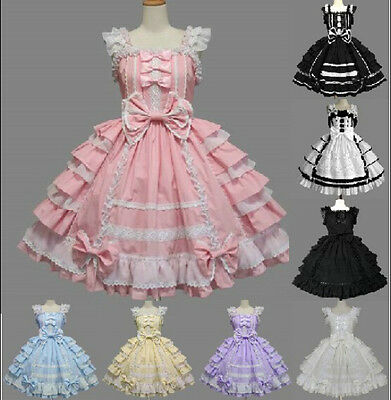 Chic Super Cute Girls Womens Lolita Princess Party Western Style Dresses Prom