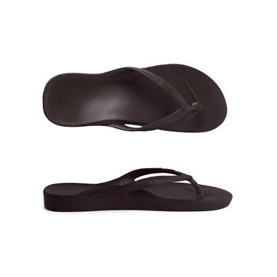 Mens Archies High Arch Support Thongs Brown Sandal Flip Flop