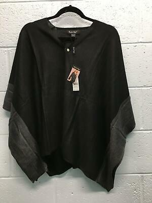 dc4472c4a Women's Charlie Paige Poncho One Size Black/Gray Polyester Wool Nylon  Acrylic