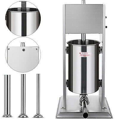 New Stainless Steel 7L Stuffer Maker Machine Commercial Kitchen Sausage Filler