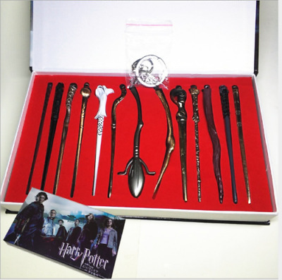 13pcs/set Harry Potter Hermione Dumbledore Sirius Fleur Magic Wand In Box Gift