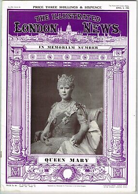 Vintage 'The Illustrated London News' Queen Mary - In Memoriam Issue 1867-1953