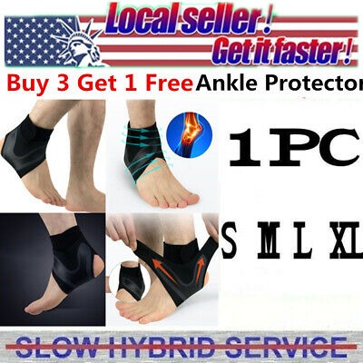 Adjustable Ankle Support Brace Protector Foot Sprains Injury Pain Wrap Guard US