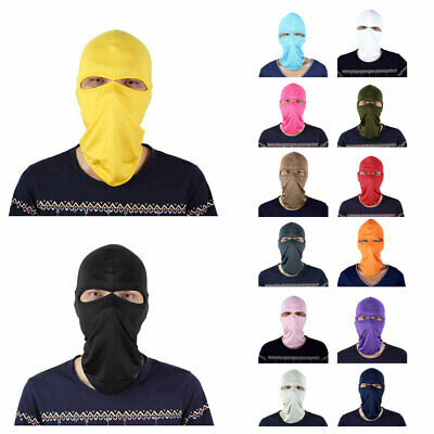 Motorcycle Cycling Hiking Ski Lycra Full Face Mask Cover Neck Hood Balaclava Cap