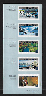 Canada Stamps — Unfolded Pane of 5 — Tourist Attractions #1952i — MNH