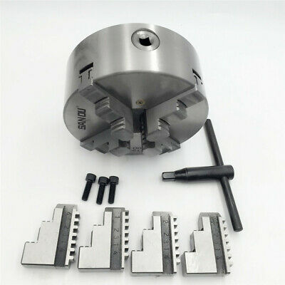 6Jaw Lathe Chuck Self-Centering 6-jaw K13 Plain Back for Lathe Metalworking CNC