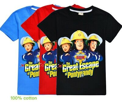 Fireman SAM The Great Escape of Pontypandy Kid's T Shirt  AU Shop