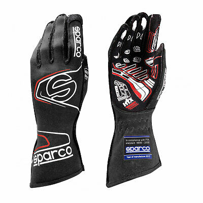 Sparco Race Gloves ARROW RG-7 Black/Red (with FIA homologation) size 11 NEW
