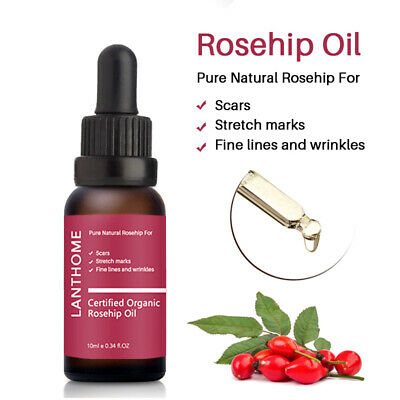 Rosehip Seed Oil Organic 100% Pure Acne Scar Stretch Marks Removal Essential Oil