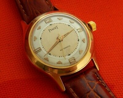 1950's PIAGET FANCY 2 TONED TEXTURED DIAL 31.9MM GOLD PLATED CASE AUTO SERVICED