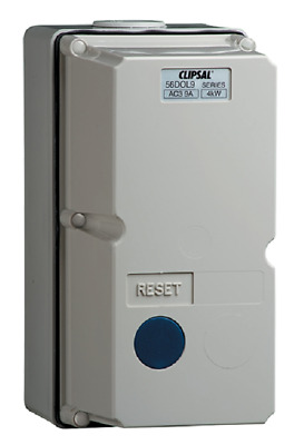 Clipsal DIRECT ONLINE MOTOR STARTER 4kW 415V 1-1.6A 2-Push Button 3-Phase, Grey