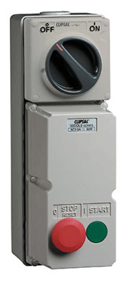 Clipsal DIRECT ONLINE MOTOR STARTER 4kW 415V 1.6-2.5A 2-Push Button 3-Phase,Grey