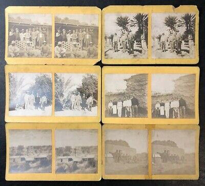 Lot of 6 Antique 1870s Stereoview Cards