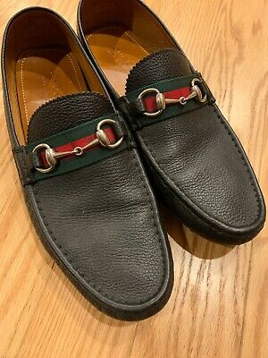 b21ca3adad4 GUCCI DRIVER SHOES Black Guccissima Penny Loafer 12UK 13 US ...