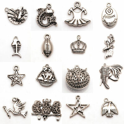 Tibetan Jewelry Mixed Antique Pendants/Bead Accessories Making Craft Caps Silver