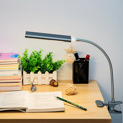 48 LED 5W Table Reading Book Lamp Flexible USB Clip-On Desk Light