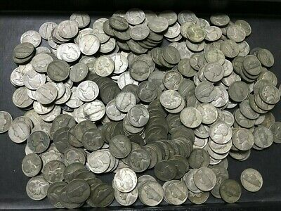 Lot of 40 35% Silver War II Jefferson Nickels $2 Face Unsorted Sangria Horde ##