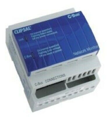 Clipsal C-BUS NETWORK MONITOR CLI5500NMA, 4M Modules Wide, DIN Rail Mounted