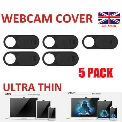 5 Pack Webcam Cover Thin 0.04in Camera Slider Sticker for Laptop Mobile Tablet
