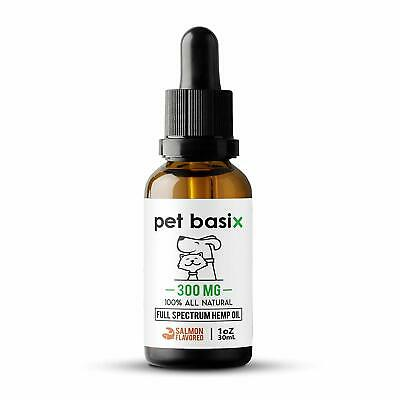 Hemp Oil for Pets Dogs Cats - Aids in Arthritis,Hip Joint Pain (Salmon Flavored)