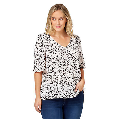 NEW Jeanswest Womens Laila Flutter Sleeve Top Original