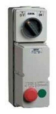 Clipsal DIRECT ONLINE MOTOR STARTER 4kW 415V AC 9A 3-Phase, 2-Push Button, Grey
