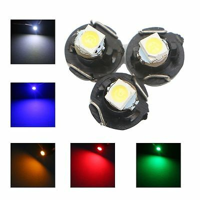 4x White T3 8mm Led 12V Neo Wedge Twist light Globe Car Dash Cluster - Auspost