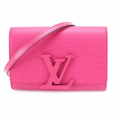 c50c2269afaa Auth LOUIS VUITTON Epi Pochette Louise PM Shoulder Clutch Bag M50284  90069481