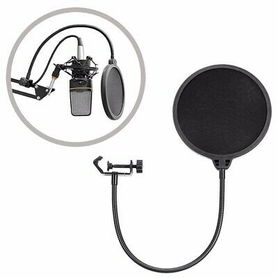 Double-layer Recording Microphone Studio Wind Screen Pop Filter Mask Shield with