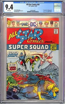 DC ALL STAR COMICS #58 - CGC 9.4 WHITE NM 1st POWER GIRL