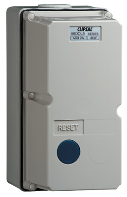 Clipsal DIRECT ONLINE MOTOR STARTER 4kW 415V Coil 3-Phase, Grey- 2.5-4A Or 4-6A