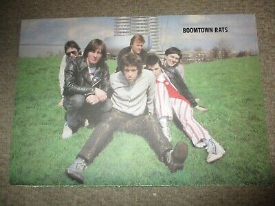 Vintage UK Boomtown Rats Poster Clippings Bob Geldof