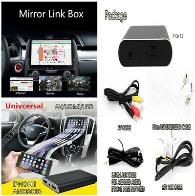 Phone Mirror Link Car Stereo Display Dongle IOS Android Miracast Airplay AV HDMI